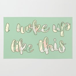 I woke up like this (pastel pattern) Rug