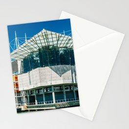 The Lisbon Oceanarium, Aquarium In Portugal, Parque das Nacoes, Wall Art Print, Modern Architecture Stationery Cards