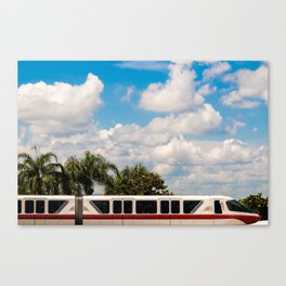 Monorail Red Canvas Print