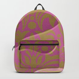 Rococo Pink and Gold Paper Sculpture Backpack
