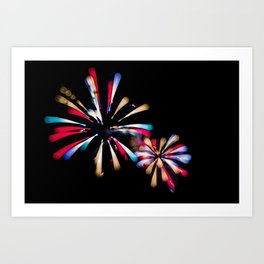 Exploding Colours Art Print
