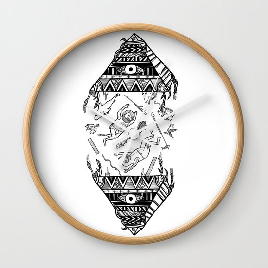 On how the mystical levitation of divers are induced by floating pyramids Wall Clock