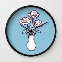 Flower felines Wall Clock