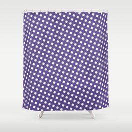 Ultraviolet Grid Shower Curtain
