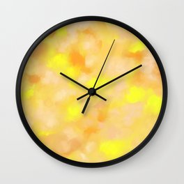 Yellow Liquid Gold Marble Abstract Wall Clock