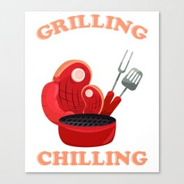 Great Gift Ideas For BBQ Lover. Canvas Print