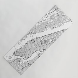 New York City White Map Yoga Mat