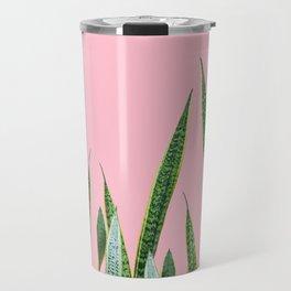 Snake plants with pink Travel Mug