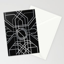 Silver Deco Stationery Cards