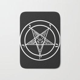Ave Satanas (White) Bath Mat