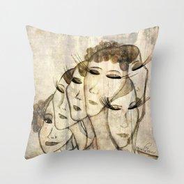 Silence shower Throw Pillow