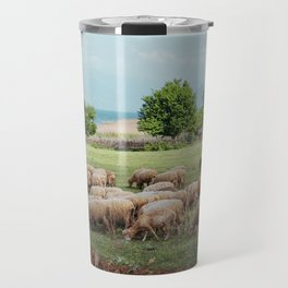 grazing sheep Travel Mug