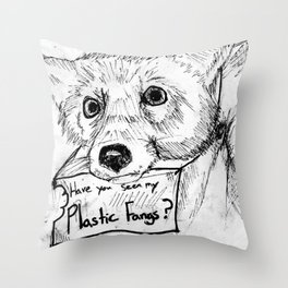 Plastic Fangs Collective Throw Pillow