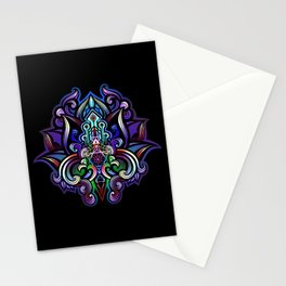 lotus heart temple Stationery Cards