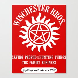 SUPERNATURAL WINCHESTER BROTHERS DEAN AND SAM Canvas Print