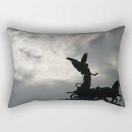 Roman angel and chariot at sunset 2 Rectangular Pillow