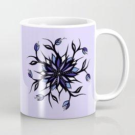 Weird Flower Mandala With Teeth Coffee Mug