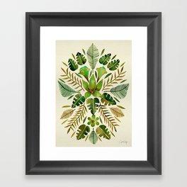 Tropical Symmetry – Olive Green Framed Art Print
