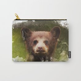 Bear Cub - Watercolor Carry-All Pouch