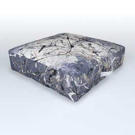 Orion - abstract painting by Rasko Outdoor Floor Cushion