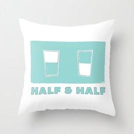 half & half Throw Pillow