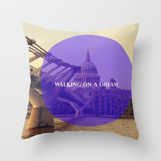 Walking On A Dream Throw Pillow