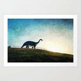 Where Dinosaurs Walk Art Print