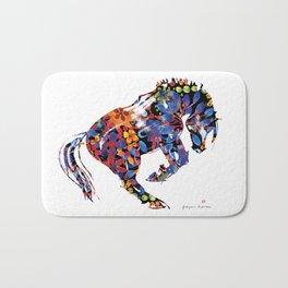 Flower Horse Bath Mat
