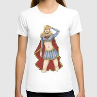 supergirl T-shirts featuring Supergirl by kittencasanova