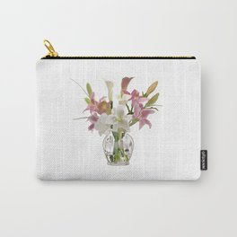 vase and flowers on white background . artwork Carry-All Pouch
