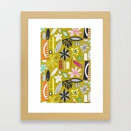 beachy yellow Framed Art Print