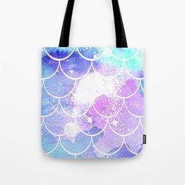 Galaxy Mermaid Scales Tote Bag