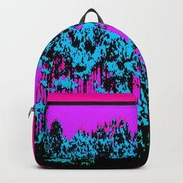 Mod Trees: Fuchsia Purple Turquoise Backpack