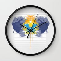 rorschach Wall Clocks featuring Rorschach by alboradas