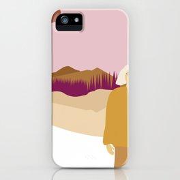 lake side mountain side iPhone Case