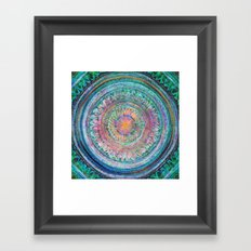 Pink and Turquoise Mandala Framed Art Print
