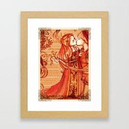 Alls Well That Ends Well - Romantic Shakespeare Folio Illustration Framed Art Print