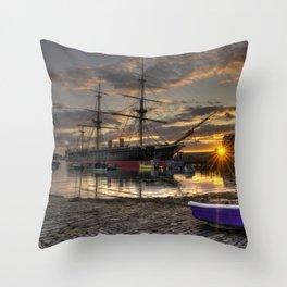 Warrior Sunset Throw Pillow