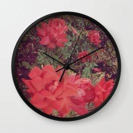 Vintage Rose Garden Wall Clock