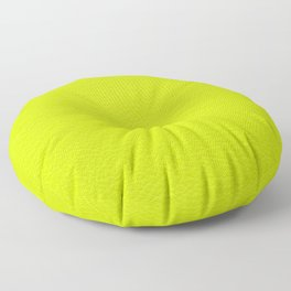 Lime green leather texture Floor Pillow