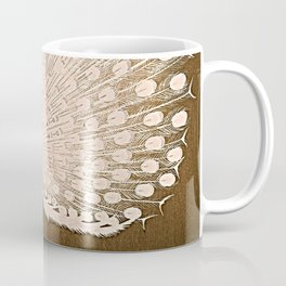 Peacock - Vintage Fantasy Bird Beige Brown Coffee Mug