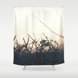 Winter Hedgerow Shower Curtain