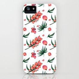 tropical botanical iPhone Case