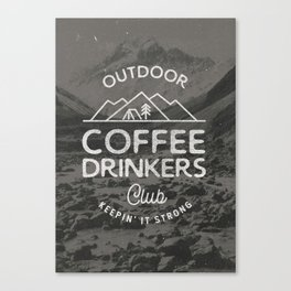 Outdoor Coffee Drinkers Club Canvas Print