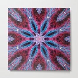 Cosmic Lightning Mandala Metal Print