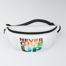 NEVER GIVE UP BLACKB Fanny Pack