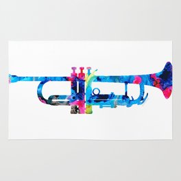 Colorful Trumpet 2 Art By Sharon Cummings Rug