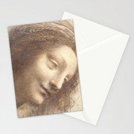 Face study - Leonardo Da Vinci Stationery Cards