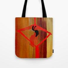 Bright Ribbon on a Fine Grain Tote Bag