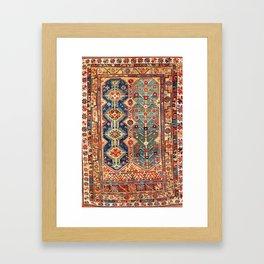 Megri Southwest  Anatolian Rug Print Framed Art Print